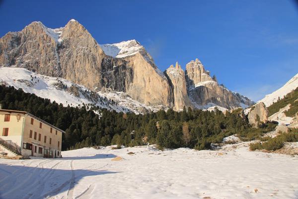 Wanderung ins Rosengartenmassiv Rifugio Stella Alpina22. November 2014
