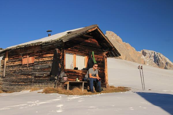 Verschnaufpause auf 2200 m St. Christina -- 23. November 2014
