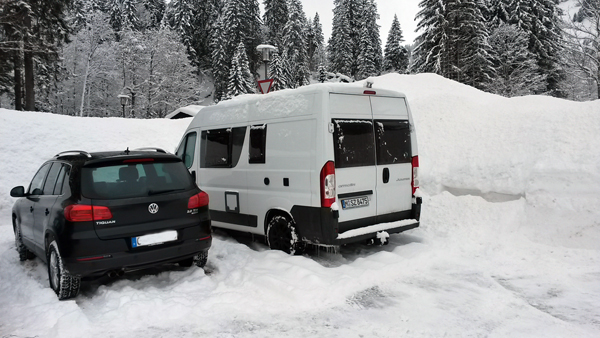 Es schneit auch in Baad