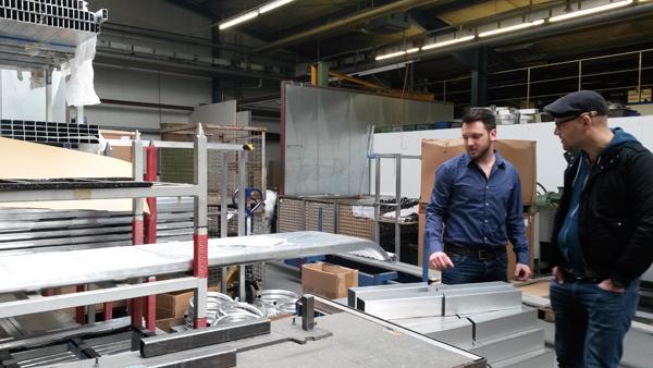 Besichtigung der Produktionsanlagen