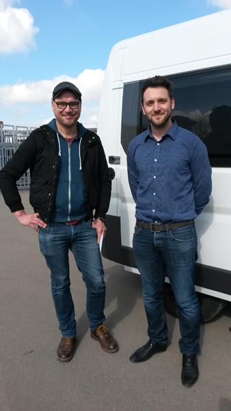 Marc mit Herrn Barbagallo von ALU-LINE