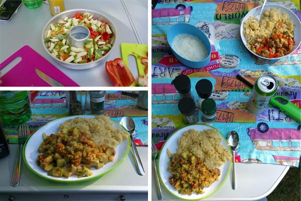 Backen im Omnia Linsen-Gemüseauflauf