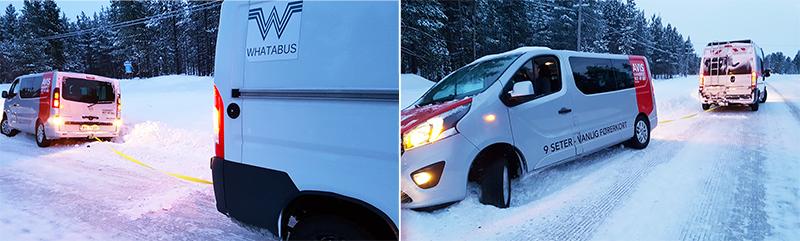 Wintercamping mit dem Wohnmobil - Abschleppen