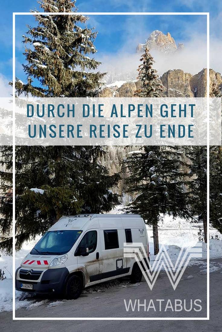 WHATABUS-Wintertour 2016/2017: 18 - Durch die Alpen geht unsere Reise zu Ende