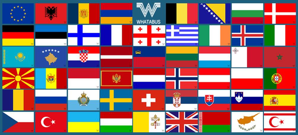 Alle Flaggen Von Europa Als Aufkleber 53 Stück 85 X 55 Cm Whatabus Shop