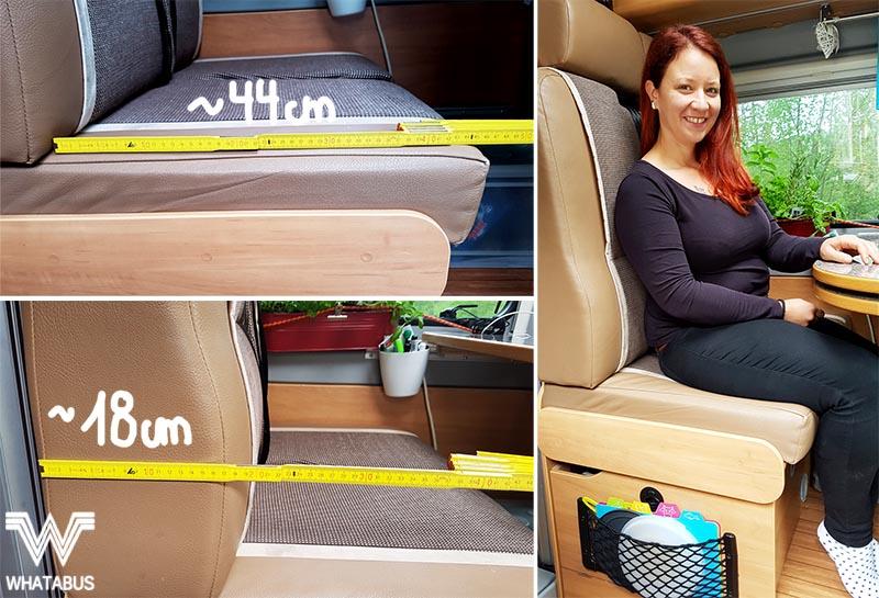 Mehr Platz auf der Sitzbank - einfache Nähanleitung für neue Polsterbezüge in der Dinette