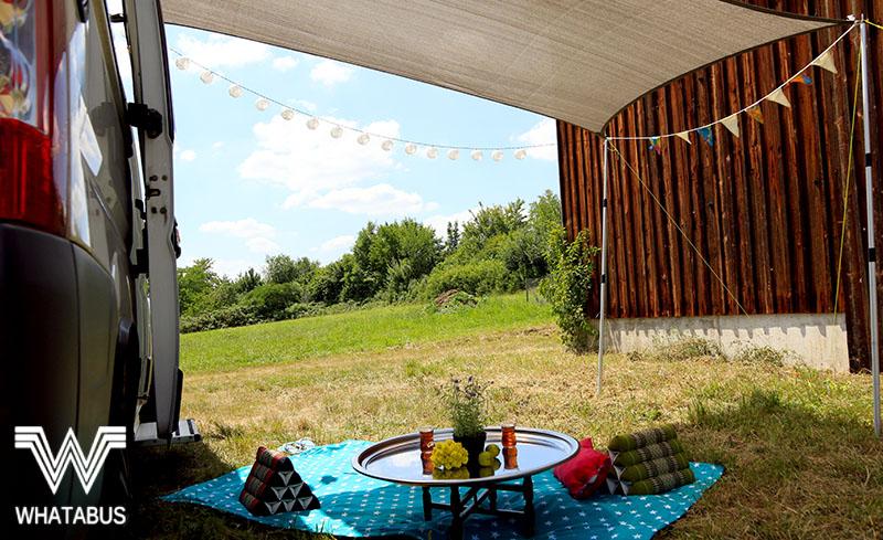 sonnensegel am wohnmobil einfach selber basteln unsere. Black Bedroom Furniture Sets. Home Design Ideas
