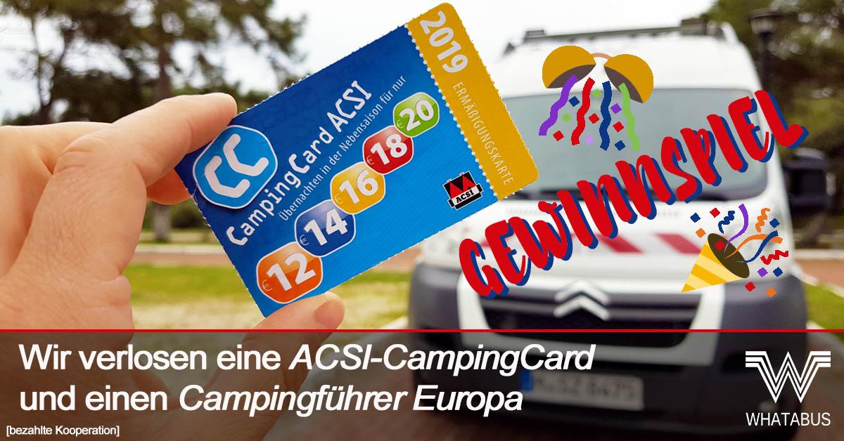 Acsi Karte.Wir Verlosen Eine Campingcard Acsi Und Einen Campingfuhrer
